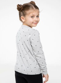 Gray - Girls` Cardigan
