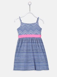 Stripe - Blue - Girls` Dress