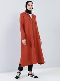 Tuğla - Astarsız kumaş - - Palto ve Kabanlar