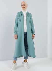 Nane yeşili - Astarsız kumaş - - Palto ve Kabanlar