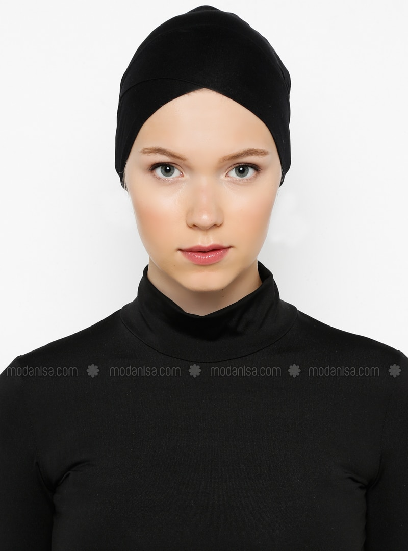 Black - Plain - Bonnet -  Bone