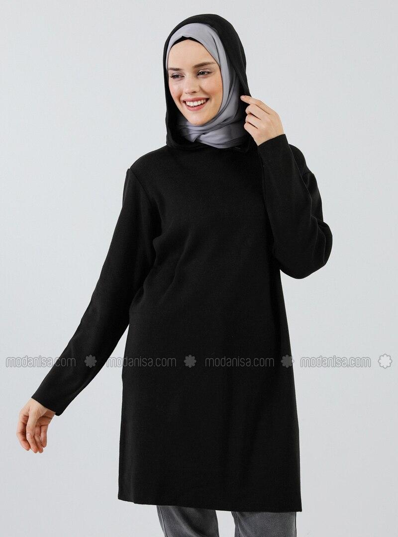Black - Acrylic -  - Tunic