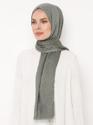 Green - Khaki - Plain - Cotton - Shawl