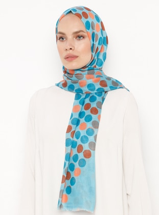 Turquoise - Polka Dot - Shawl