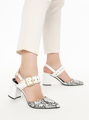 White - Ecru - High Heel - Heels