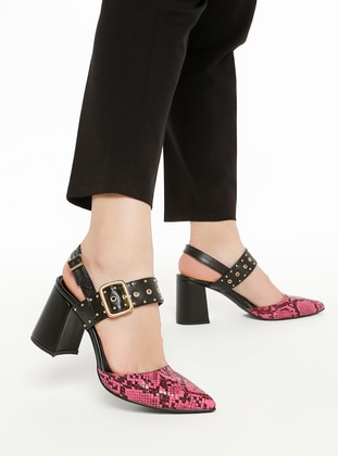 Black - Fuchsia - High Heel - Heels