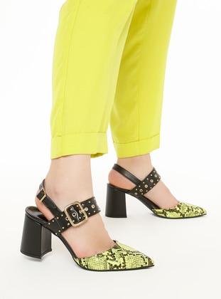 Black - Yellow - High Heel - Heels