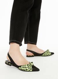 Green - Flat - Sandal - Flat Shoes