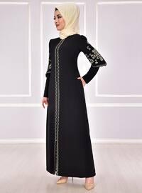 Black - Unlined - Muslim Evening Dress