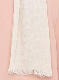 Cream - Plain - Linen - Shawl