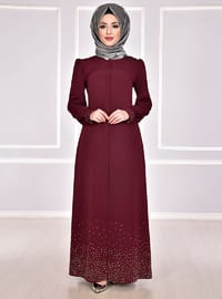 Maroon - Evening Abaya