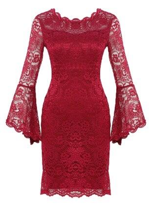 Fuchsia - Fully Lined - Boat neck - Muslim Evening Dress