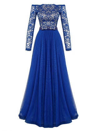 Saxe - Fully Lined - Boat neck - Muslim Evening Dress