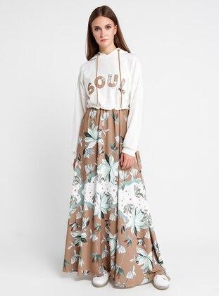 Camel - Multi - Unlined - Dress