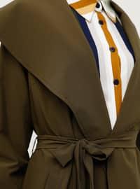 Khaki - Unlined - Shawl Collar - Topcoat