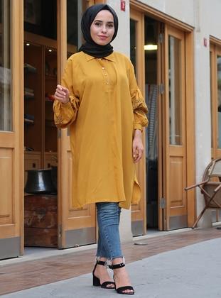 Mustard - Button Collar - Tunic