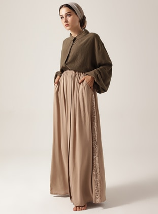 Mink - Fully Lined - Cotton - Skirt
