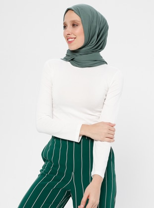 White - Ecru - Polo neck - Tank - MODAGÜL