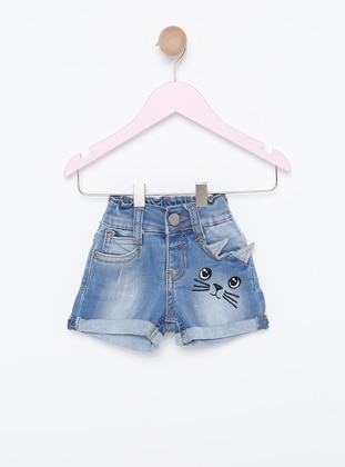 Denim -  - Unlined - Blue - Baby Shorts
