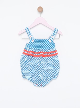 Multi - Sweatheart Neckline -  - Fully Lined - White - Blue - Coral - Overall