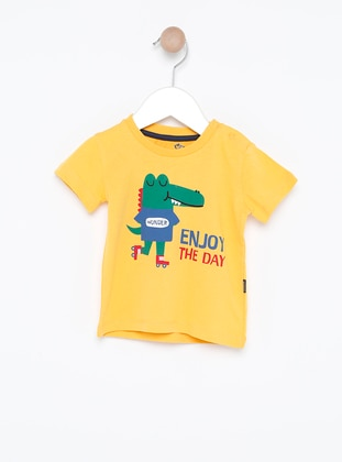 Crew neck -  - Unlined - Yellow - Baby Body - Wonder Kids