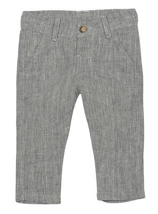 Cotton - Unlined - Navy Blue - Boys` Pants