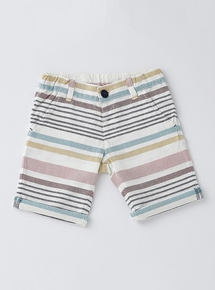 Stripe - Cotton - Unlined - Dusty Rose - Boys` Shorts
