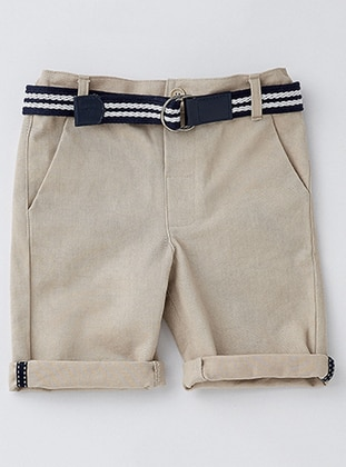 Cotton - Cream - Boys` Shorts