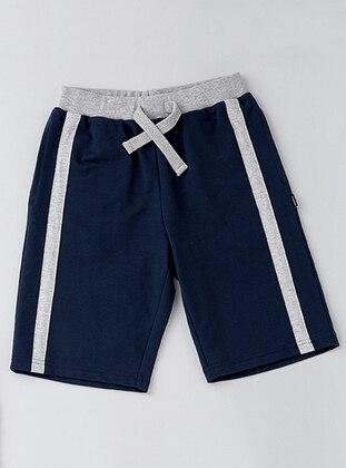 Cotton - Navy Blue - Boys` Shorts