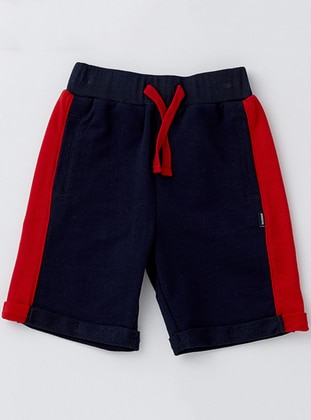 Cotton - Unlined - Navy Blue - Boys` Shorts