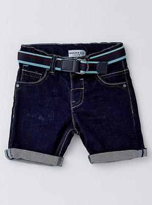 Cotton - Unlined - Navy Blue - Boys` Shorts