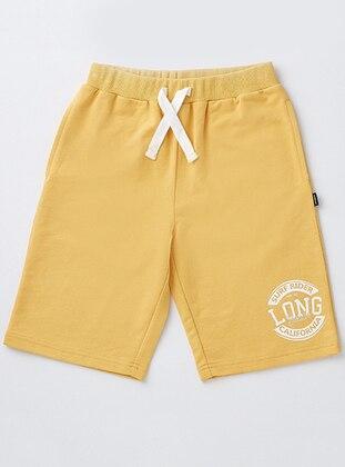 Cotton - Yellow - Boys` Shorts