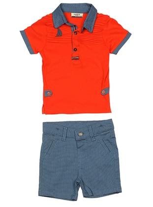 Polo - Cotton - Orange - Boys` Suit