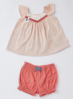 Crew neck - Cotton - Salmon - Baby Suit