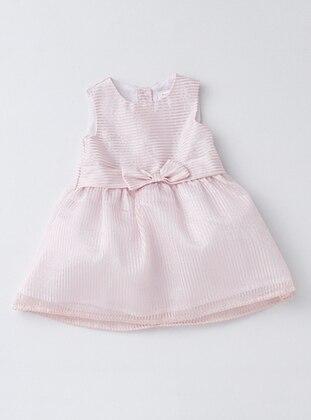 Stripe - Crew neck - Pink - Baby Dress
