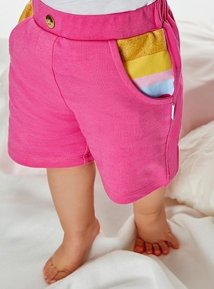 Cotton - Fuchsia - Baby Shorts