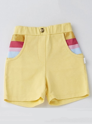 Cotton - Yellow - Baby Shorts - Wonder Kids