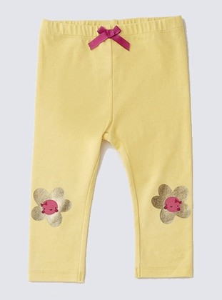 Cotton - Yellow - Baby Pants