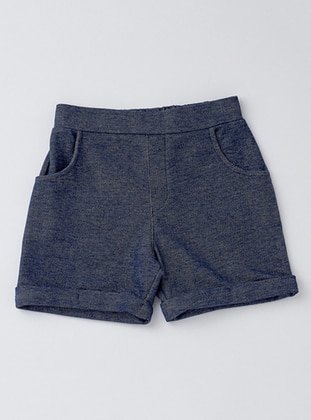Cotton - Blue - Girls` Shorts