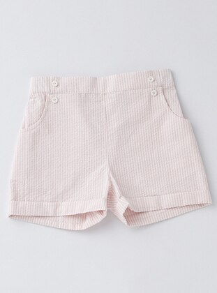 Cotton - Pink - Girls` Shorts
