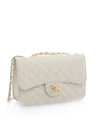 Beige - Satchel - Shoulder Bags