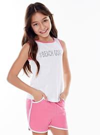 Cotton - Pink - Girls` Shorts
