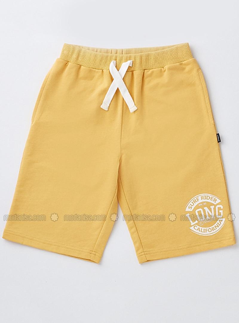 0ca0df0a74 Cotton - Yellow - Boys` Shorts