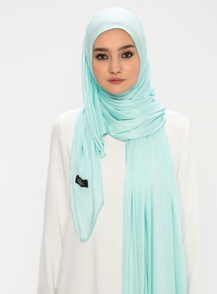 Sea-green - Plain -  - Shawl