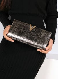 White - Silver tone - Clutch Bags / Handbags