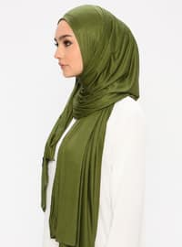Green - Plain - Viscose - Jersey - Shawl