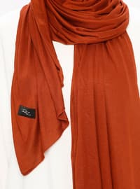 Terra Cotta - Plain - Viscose - Jersey - Shawl