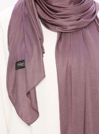 Lilac - Plain - Viscose - Jersey - Shawl