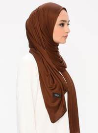Brown - Plain -  - Shawl