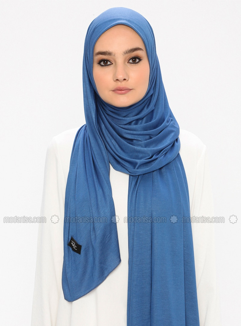 Indigo - Plain -  - Shawl